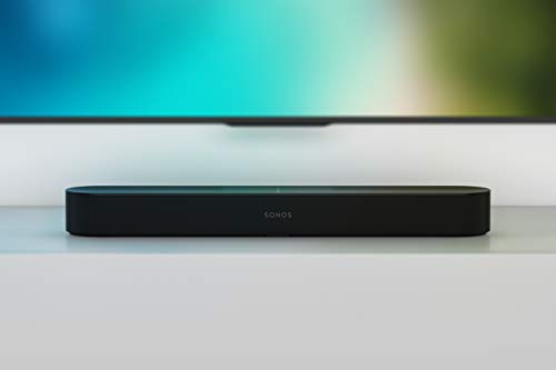 Sonos Beam barra de sonido con Alexa integrada - barra de sonido inteligente para TV y música, altavoz compatible con AirPlay, color negro
