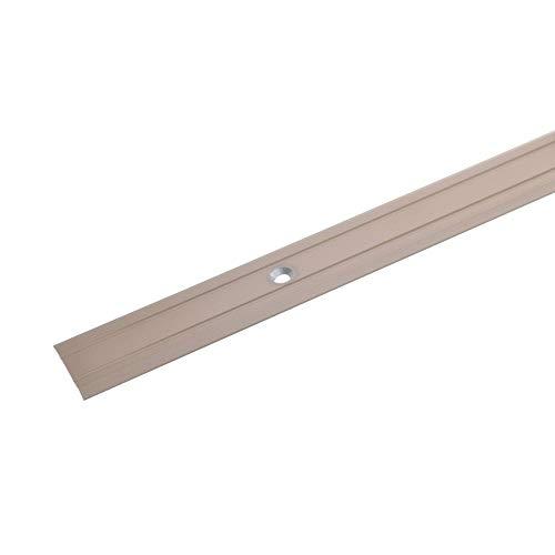 acerto 33598 Übergangsprofil Aluminium, 2-teilig - 100cm, 1,25mm bronze hell * Rutschhemmend * Kratzfest | Übergangsleiste für Teppich-Boden, Laminat & Parkett | Alu-Übergangsschiene,