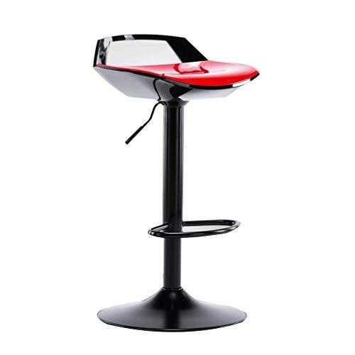 SAP- Silla de Bar Silla de Comedor Silla Alta de elevación de Taburete Silla de rotación de Pintura de Piano de Color Mosaico Durable (Color : Black, Size : H62-82CM)
