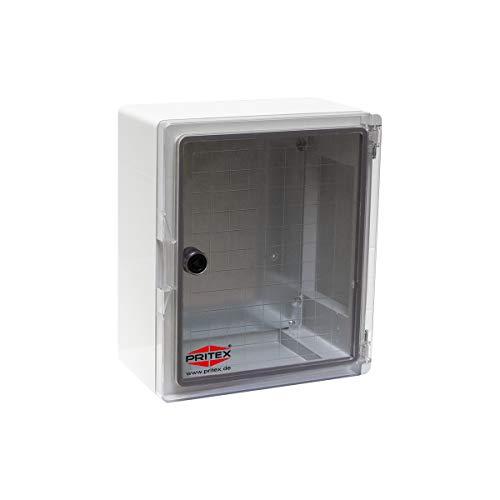 Kunststoff Schaltschrank 180 x 240 x 130 mm mit Sichttür IP65 Verteilerkasten