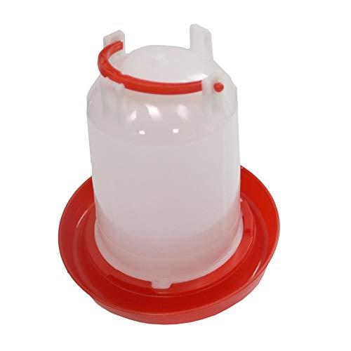 Gifftiy Balkongeländer Holz Vogelhaus Balkongeländer Chicken Feeder 1 5 Kg Fass Wassereimer Wachtel Vogel Trinker Ausrüstung Drinker-Red_S