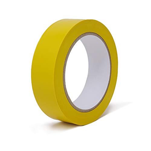 gws Putzband PVC glatt Abklebeband leicht abrollbar | Maler-Schutzband in Profi-Qualität | versch. Farben & Breiten | Länge: 33 m (8 Rollen - 30 mm breit - gelb glatt)