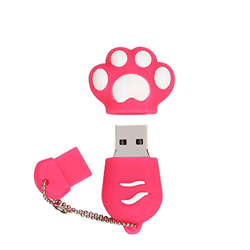 32GB Chiavetta USB 3.0 Chiavetta USB 32GB (Zampa Rosa) 32GB USB Flash drive USB 3.0 Memory Stick 32GB di Pennetta USB Pen Drive Per Laptop Computer