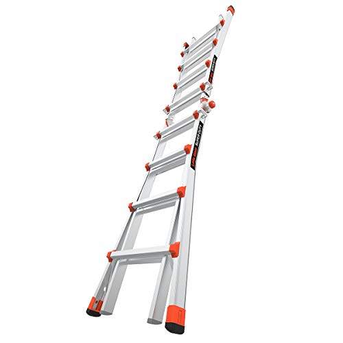 Little Giant Ladders, Super Duty, M17, 17 foot, Multi-Position Ladder, Aluminum, Type 1AA, 375 lbs weight rating, (10402)