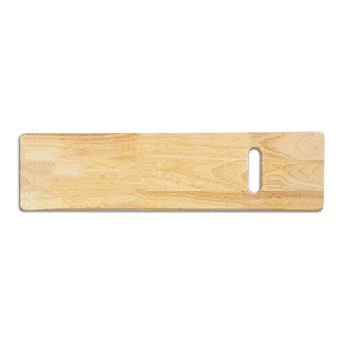 Transfer Board Made of Heavy-Duty Wood for Patient, Senior and Handicap Move Assist, Holds up to 550 Pounds, One Cut Out Handles, 30 x 8 x 0.75