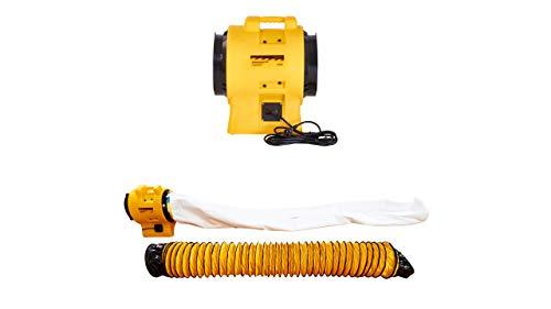 Staubabsaugung S3900 mit Ansaugschlauch und Staubfangsack | Luftreiniger | Staubfilter | staubfreie Räume