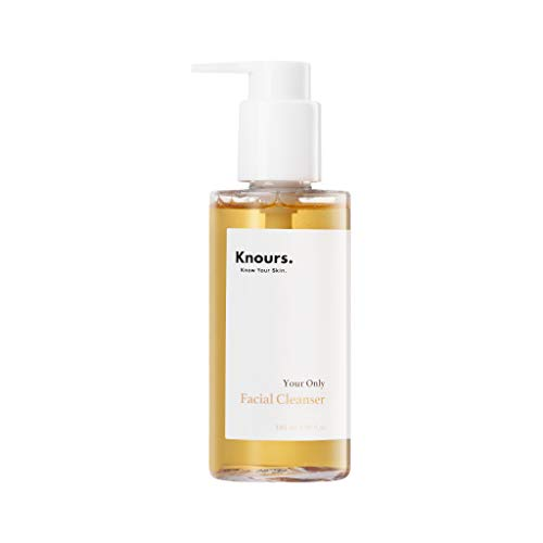 Knours. - Your Only Facial Cleanser | Oil to Foam Double Cleansing | Gentle Deep Makeup Remover Face Wash for Dry Sensitive Oily Combination Skin | Safe, Clean, Natural Ingredients Beauty (4.9 oz.)
