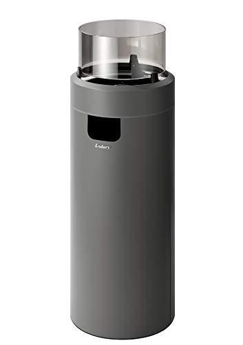Enders Nova LED L Feuerstelle, Grau/Schwarz