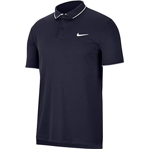 Nike Herren M NKCT Dry Polo Team Shirt, Obsidian/White/White/(White), 2XL