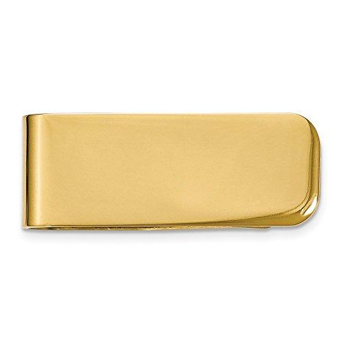 Acero inoxidable chapado en oro de 14 quilates pulido grabable clip de dinero joyería regalos para hombres