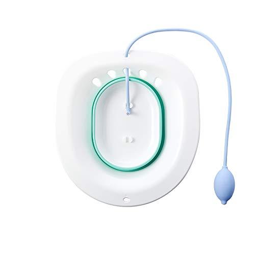 SODAL Der Dampfsitz auf dem faltbaren Bidet-WC, das Anti-Überlauf-Design kann durch den Toilettensitz getaucht werden, geeignet für schwangere Frauen mit Hämorrhoiden. (Grün)