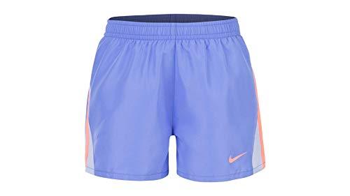 Nike Girls' Dry Tempo Running Shorts (Royal Pulse(36D186-U8H)/Orange, 4)