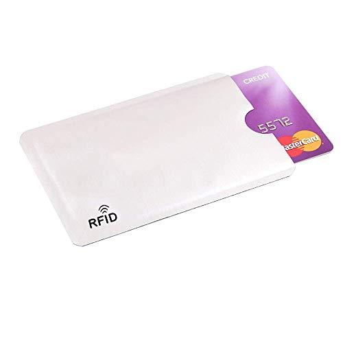 [20 Pz] 20 Custodie con RFID Schermato e Anti-smagnetizzazione, Protezione Rfid/NFC Anti-frode, Perfetto per Carte di Credito, Bancomat, Carta d'identità,Codice Fiscale e Badge del Lavoro