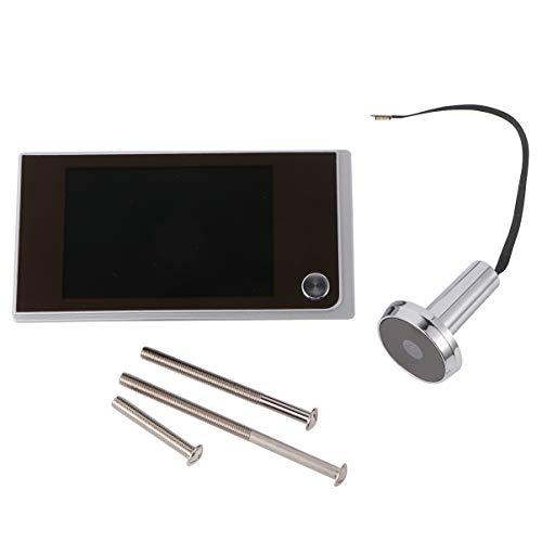 CLISPEED - Visor de mirilla digital de 3,5 pulgadas, mirilla de mirilla de 120 grados, HD, puerta gran angular, ojo de buey, seguridad doméstica, portamirillas, cámara, pantalla LCD monitor