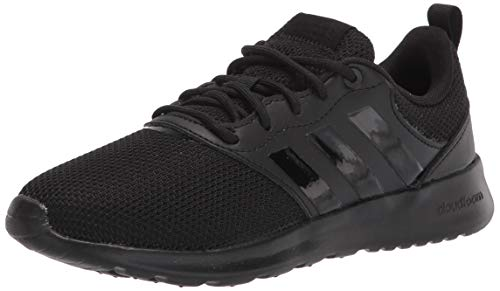 adidas Women's QT Racer 2.0 Running Shoe, Core Black/Black/Grey, 8
