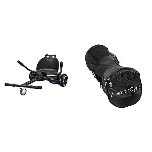 Smartgyro Go Kart Pro Black Asiento Kart para Patín Eléctrico, Convierte Tu Hoverboard En Un Kart, Universal + Serie X Bag Black Bolsa para Patinete Eléctrico