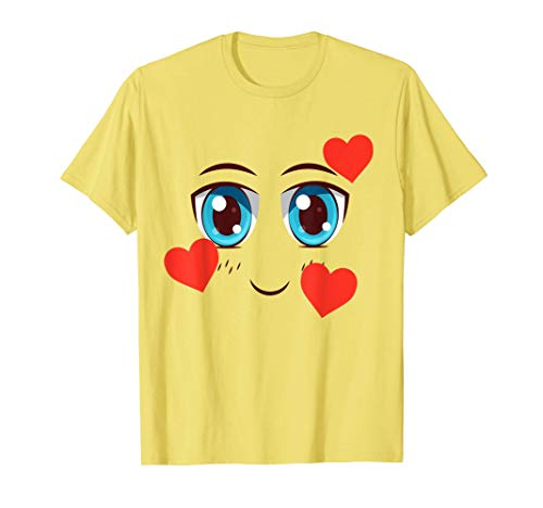 Smiling Face with Hearts In Love Emojis Halloween Costume T-Shirt