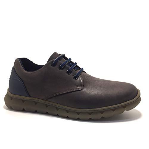 ON FOOT 560, Zapatos con Cordones, para Hombre, Color Marron - Cuero Talla: 40