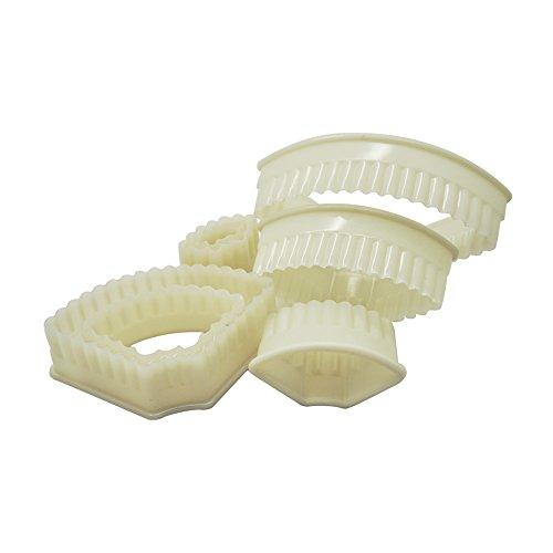 DeColorDulce sG1002 Set 8 emporte-pièces Biscuit ABS, Blanc, 13 x 6 x 3 cm, Lot de 8