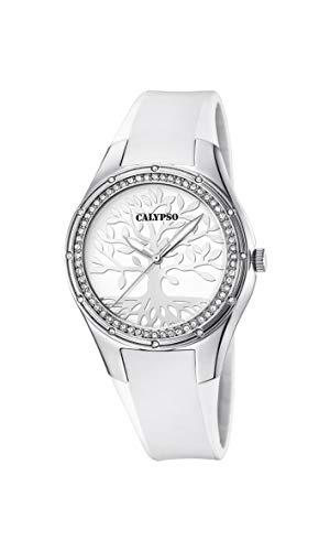 CALYPSO Reloj Analógico para Mujer de Cuarzo con Correa en Silicona K5721/A