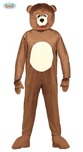 Guirca- Costume Orso Uomo Adulto, Colore Marrone, L, 88182