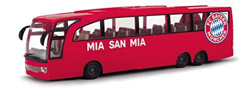 Dickie Toys 203175000 Touring Bus, FC Bayern München Mannschaftsbus, Spielzeugbus mit Friktion, Türen zum Öffnen, 1:43, 30 cm groß, rot