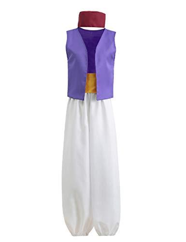 Ainiel Men's Arabian Prince Costume Aladdin Street Rat Suits (S) Purple