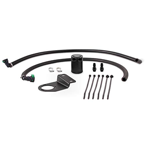Mishimoto MMBCC-RGR-19PBE Baffled Oil Catch Can Compatible With Ford Ranger 2019+ Black