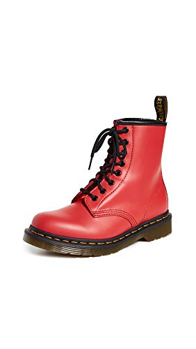 Dr. Martens Unisex Adults 1460 Smooth Colour Pop Closed Toe Fashion Boots - Satchel Red - 11