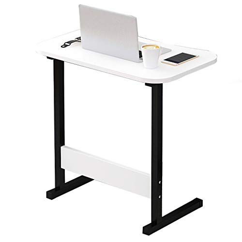 GY Bedside Laptop Stand Tafel, Mobiele Stand Up Workstation, Houten Paneel, Multifunctionele Huishoudelijke Draagbare Lade Bijzettafel, 4 Kleuren, 60 * 40cm