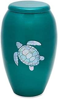 UrnsDirect2U MOP Sea Turtlle Adult Decorative-urns Green