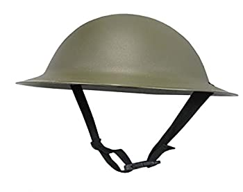 Nicky Bigs Novelties Adult Ally Army Helmet Costume Olive Drab Green One Size