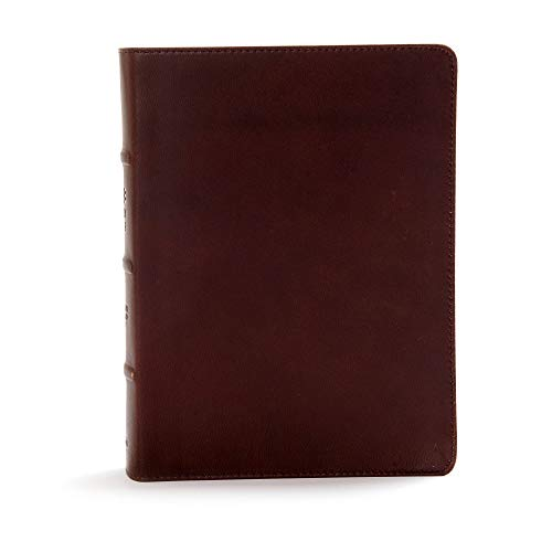 CSB Study Bible, Brown Genuine Leather, Indexed