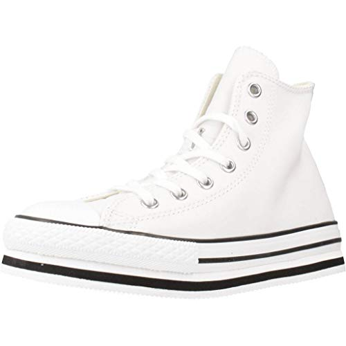 Converse Chuck Taylor All Star Move, Zapatillas para Niños, Bianco, 36 EU