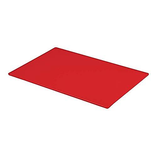 Tabla de cortar profesional, grande, para catering, preparación de alimentos, color rojo
