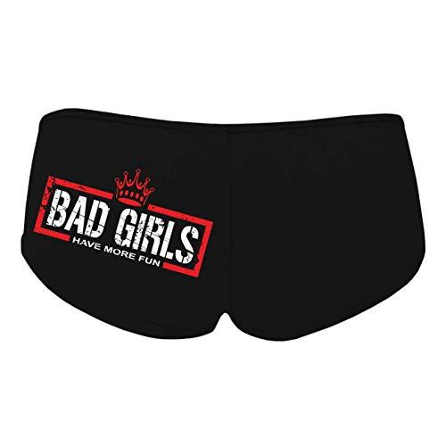 Spaß kostet Frauen und Mädchen Hotpants Panty mit Spruch Bad Girls Größe S - XL