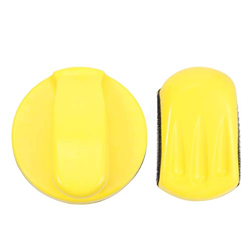 ibasenice Handschleifblock mit Klettverschluss - 5-Zoll- Und 6-Zoll-Handschleifblock - Schleifscheibenhalter für Das Polieren von Schleifen von Möbeln (2 Stück)