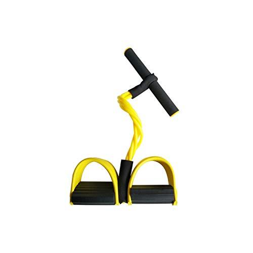 Old street Fake Nail Widerstandsbänder Beine  4 Resistanc Elastic Pull Ropes Exerciser Rudergerät Belly Resistance Band Home Gym Sporttraining Elastic Bands für Fitnessgeräte-Yellow-