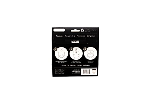 MODGY Lumiere Lumizu Luminary Lanterns 4-Pack - Floating LED Candles Batteries Included - Luminaries are Great Weddings, Parties, Patios & Celebrations All Kinds - LUM3035