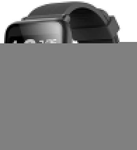 Reloj inteligente Bluetooth de precisión, IP67, resistente al agua, monitor de ritmo cardíaco, podómetro, detección de sueño, cronómetro, SMS, música compatible con iOS y Android (color: azul)