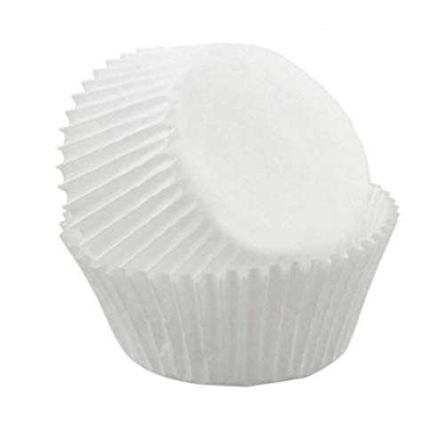 Amazing Deal White Greaseproof Paper Chocolate Candy Cups No.4-1''x3/4'' - White - 200 pcs