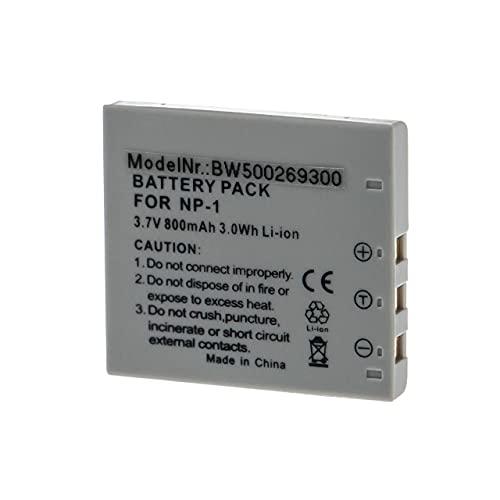 vhbw Batería Recargable reemplaza Konica Minolta NP-1 para cámara Digital, DSLR (800 mAh, 3,7 V, Li-Ion)