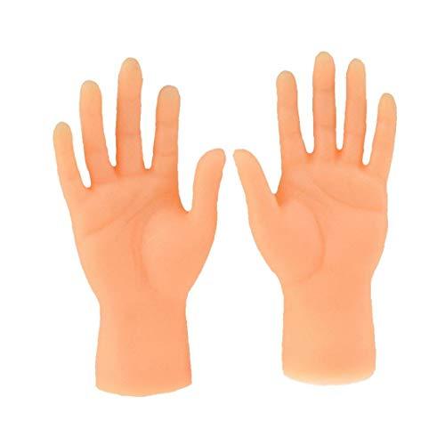 KHHGTYFYTFTY Marioneta del Dedo del Dedo Mini Manos Manos diminutas con Izquierda Manos y Derecha para Game Party 2 Piezas