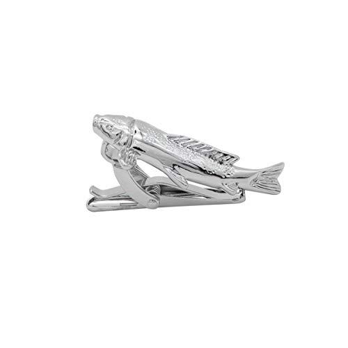 Holibanna Clip de Corbata Animal Barra de Metal Clip de Corbata de Pescado Regalo para Padre Amigos Hombres Boda Masculina Fiesta de Negocios Cena Reunión