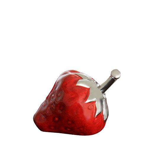 COR Mulder Erdbeere rot-Silber, H ca. 6 cm | CM-36958 | 4032584369583