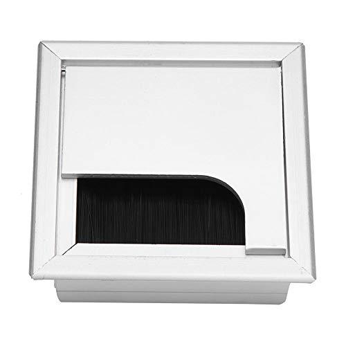 Maxmartt Kabelbox aus Aluminium, quadratisch, für Schreibtisch, Computer, Kabel, für Zuhause, Büro, (L M S) Small