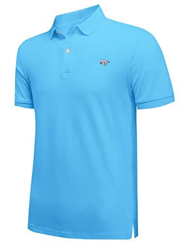 Hombre Manga Corta Polos 100% Algodón Casual Camiseta Golf Tenis Camisas Bordado de Oso/Imprimir Logo/Color sólido Disponible
