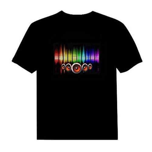 Lixada LED T-Shirt Sprachaktivierter Blitz für Party Rock Disco Night Club für Mann und Frau