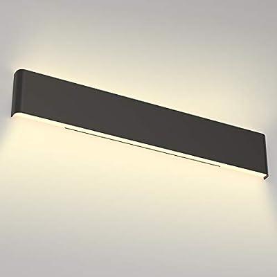 Aipsun 30W/32.6in Modern Black Vanity Light Indoor Modern Rectangular LED Wall Mount Light Up and Down Vanity Light for Bathroom Lighting Fixtures Warm Light 3000K