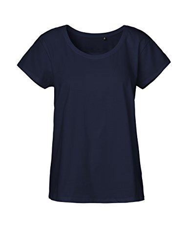 Green Cat Ladies Loose Fit T-Shirt, 100% Bio-Baumwolle. Fairtrade, Oeko-Tex und Ecolabel Zertifiziert, Textilfarbe: Navy, Gr.: L